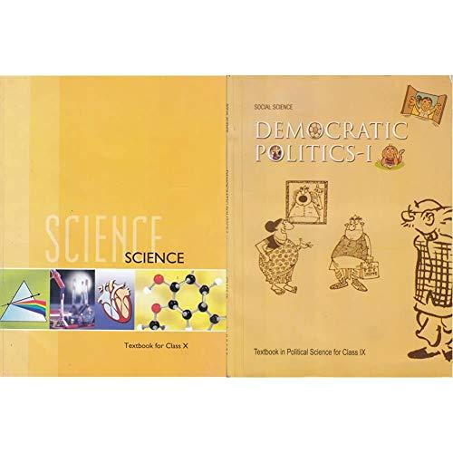 Science Textbook for Class 10- 1064 + Democratic Politics - 1 : Textbook in Social Science for Class - 9 - 972 (Set of 2 Books)