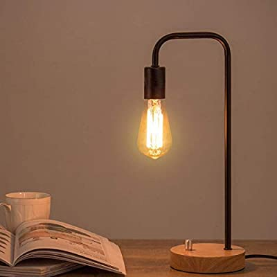 Industrial Desk Lamp, Vintage Nightstand Light to Bright Room, Ideal for Minimalism
