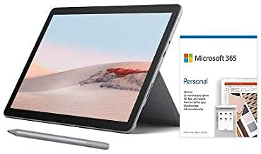 "Microsoft Surface Go 2 10.5"" Intel Pentium Gold 8GB RAM 128GB SSD Platinum + Surface Pen Platinum + Microsoft 365 Personal..."