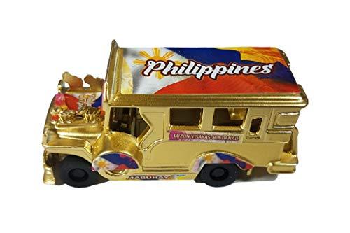 TULAY Filipino Miniature Jeepney Diecast Figurine Philippine Flag Pinoy Pride Gold Edition