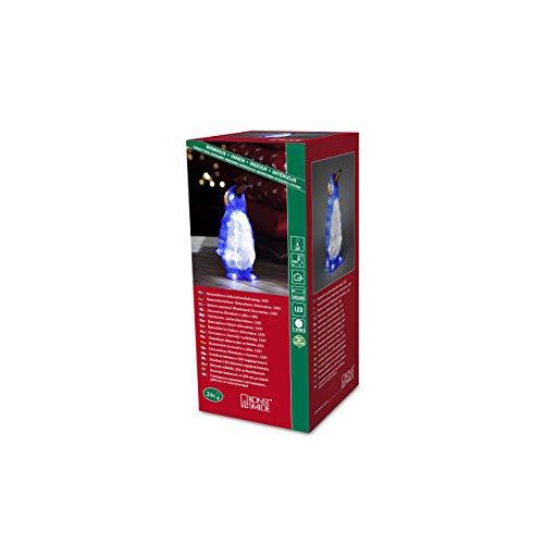 """Konstsmide 6167-203 LED Acrylfigur \""""Pinguin\"""" / für Innen (IP20) /  Batteriebetrieben: 3xAAA 1.5V (exkl.)  / 24 kalt weiße Dioden"""