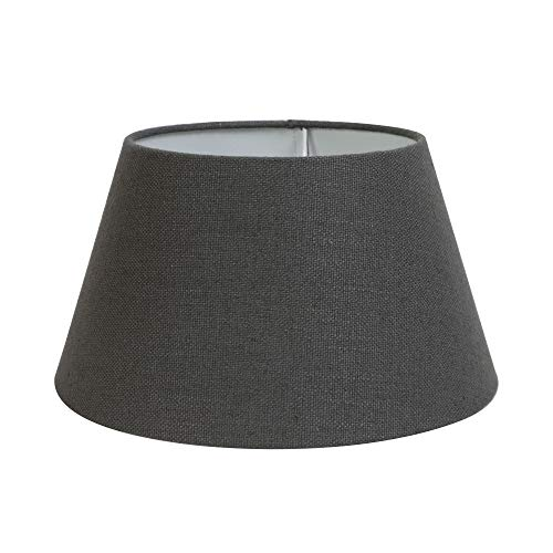Lampenkap rond 45-35-25 cm LIVIGNO donkergrijs