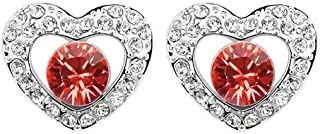 Robella Swarovski Elements Earring Encrusted With Red Swarovski Crystals ROB-044