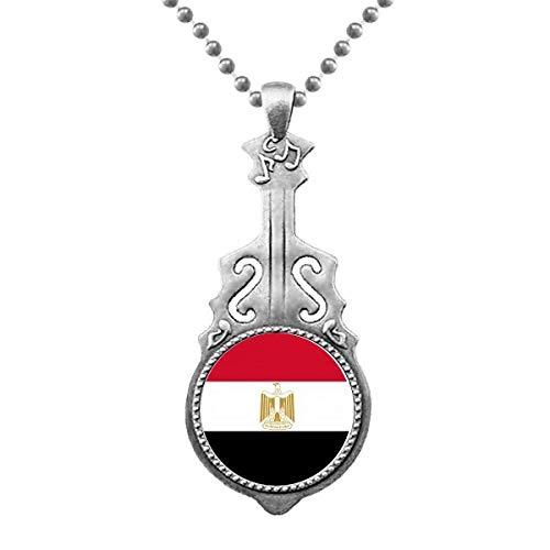 """Ã""""gypten Nationale Flagge Afrika Land Anhänger Schmuck Musik Gitarre Torque Star Moon"""