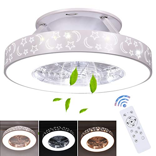 Tangkula 23' Ceiling Fan with Lights, Round LED Ceiling...