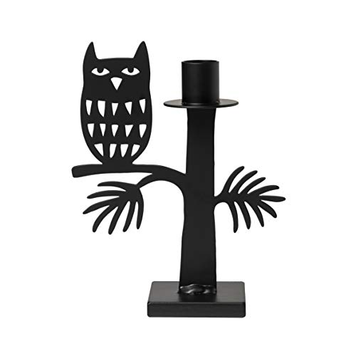 Bengt & Lotta OWL(Eule) Kerzenhalter schwarz