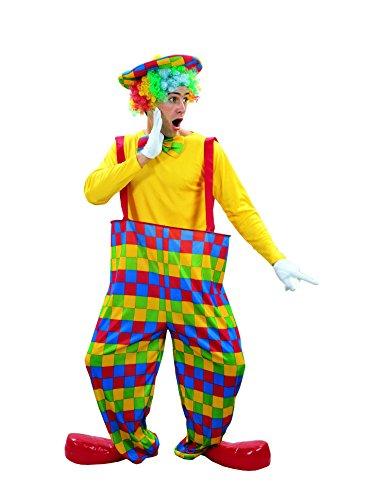 Rire Et Confetti - Fibclo002 - Déguisement pour Adulte - Pantalon De Clown d'arc-en-Ciel