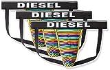 Diesel Herren Jockstrap 3 Pack - Jockythreepack, Fresh&Bright - Uni/gestreift Schwarz/Multicolor XXL...