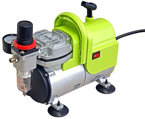 Pro-Lift-Werkzeuge Airbrush Druckminderer Kompressor 1 Zylinder / 4 bar Druckminderer Mini Druckminderer Kompressor 23l/min 230V KolbenDruckminderer Kompressor Start Stop Automatik Öl-frei