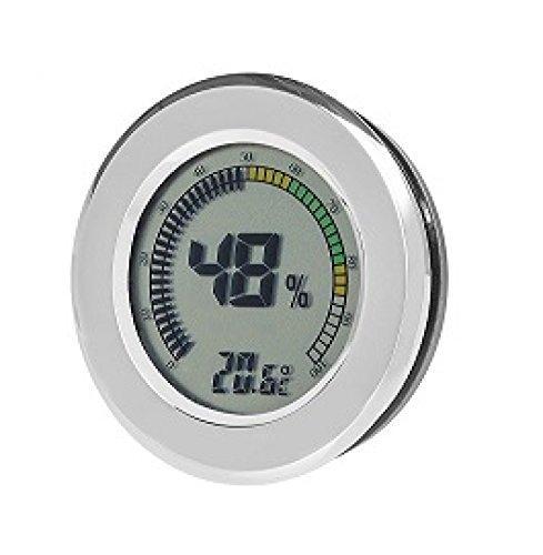 Angelo Digital Hygrometer - Thermometer rund inkl. Lifestyle-Ambiente Tastingbogen