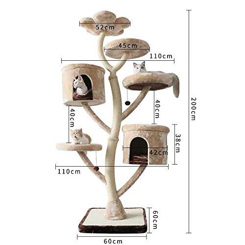 Katzen Kratzbaum Kratzbaum Für Katzen Kletterbaum Für Katzen Stabiler Kratzbaum Mit Massivholz Katze Klettergerüst Sisal Tongtianzhu Raum Kapsel Katzennest Kratzbaum-hy5215