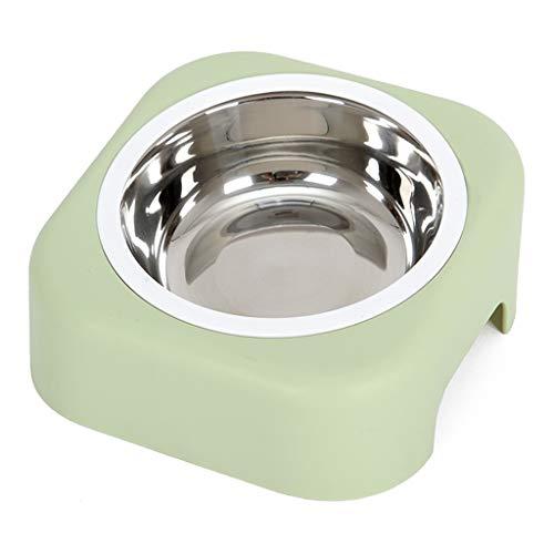 Kiter Dog Pot Pet Food Bowl Dog Bowl Rack Arts de la Table Anti-basculement d'aliments for Chats Aliments for Chiens Oblique Soins de la Bouche for Animaux du Rachis Cervical Santé (Color : Green)