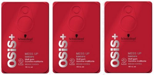Schwarzkopf Osis Mess Up Pack of 3 3.4 oz by Re