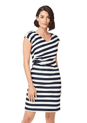 comma Damen 8E.995.82.4463 Kleid, Mehrfarbig (59g0 Stripes 59g0), (Herstellergröße: 34)