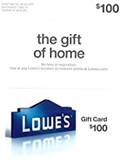 Use at any Lowe's location or redeem online at Lowes.com. Redemption: Instore and Online It's the perfect gift for any occasion. No returns and no refunds on gift cards.