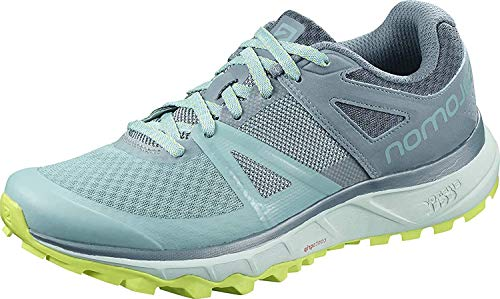 Salomon Women's Trailster Trail Running Shoes, Nile Blue/Bluestone/Acid Lime, 5.5 US