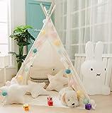 Elflandis Tipi Spielzelt für Kinder mit Matte & Aufbewahrungstasche