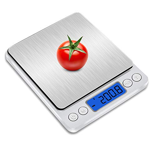 キッチンスケール はかり デジタル 精密電子はかり [最新] 計量器 電子天秤 0.1gから3.0kgまで コンパクト ...