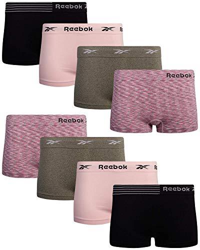 Reebok Women s Underwear - Seamless Boyshort Panties (8 Pack), Size Small, Space Dye Clover Lotus Black