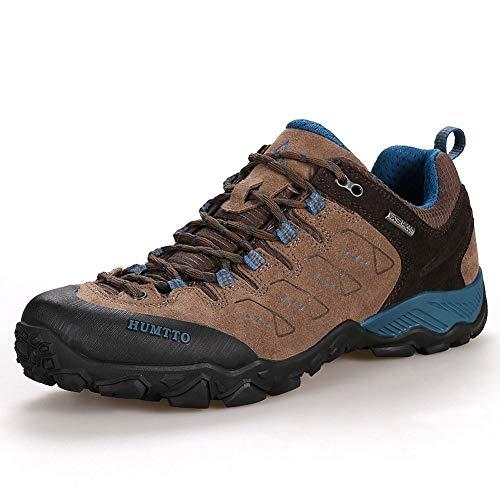 HUMTTO Wanderschuhe für Männer Atmungsaktive leichte Wanderschuhe aus Trekkingleder für alle Jahreszeiten im Freien, für Rucksacktouren, Camping, Trekking und Radfahren