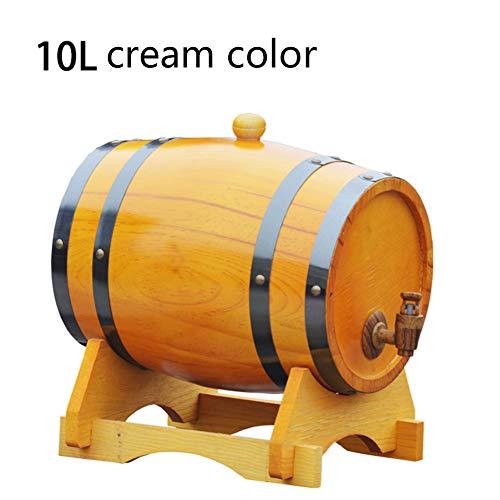 ASDF Eiken Vat, Houten Whiskey Barrel Dispenser, Handgemaakt met eiken, Houten Wijnvat, voor Bier Whiskey Rum Port Keg Opslag - 5L/10L