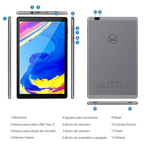 Tablet 10 Pulgadas Vankyo S20 Tableta de Procesador Octa-Core, 64GB ROM y 3G RAM, 8MP y 5MP Cámara, Android 9.0, WiFi… 7