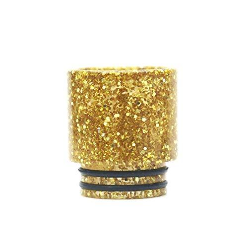 Golden Silver Star aus Resin-Mundstück 810 Tropfspitze für E-Cigarette 810 Zerstäuber Tank RTA RDTA Verdampfer Frei von Tabak und Nikotin (Color : Gloden)