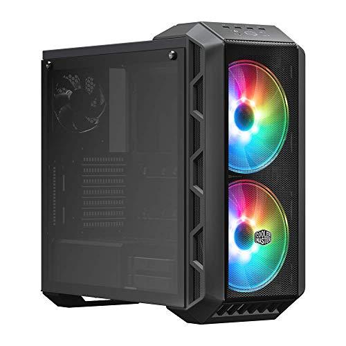 Cooler Master MasterCase H500 ARGB Caja PC con Dos Ventiladores 200 mm para Potente Flujo de Aire, Paneles Chasis Frontales Transparente y Mallado, Capacidad de Hardware ATX Flexible