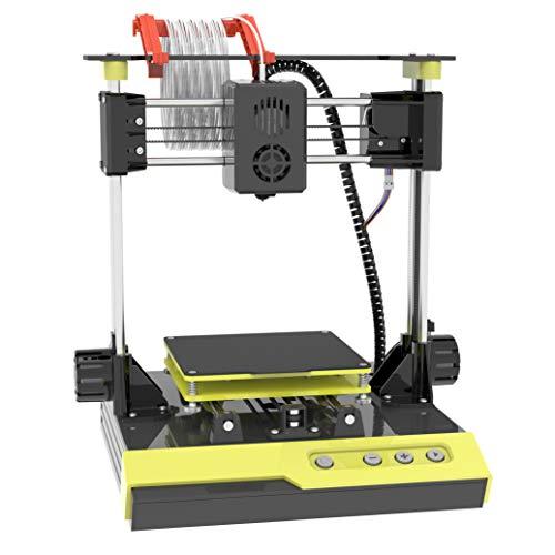 NantFun Mini impresora 3D con placa magnética extraíble, eje Z, calentamiento rápido, silencioso, tamaño de impresión 10 m - 1,75 mm, color negro y amarillo