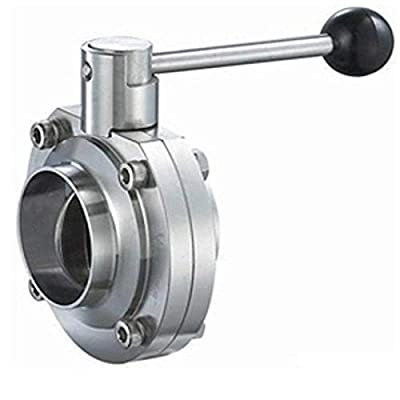 "Steel and Obrien BFVPW-4-304 Stainless Steel Weld Butterfly Valve, Pull Handle, 4"" from Steel and Obrien"