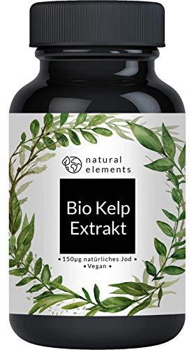 Bio Kelp Extrakt (Natürliches Jod) - 365 Tabletten mit je 150µg Jod aus Bio-Braunalgen - Ohne unerwünschte Zusätze - Hochdosiert, vegan und hergestellt in Deutschland