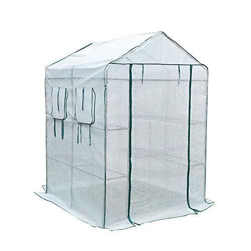 Växthus ZLI stor begriplig PE-tygöverdrag, trädgårdshus-suckulenter-blommor-grön-isolering-familj (storlek: 143 × 143 × 195 cm)