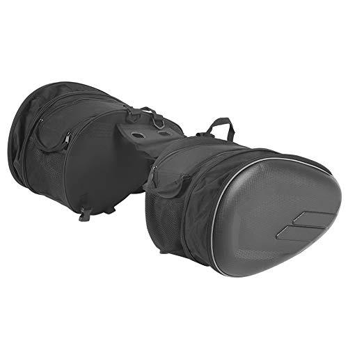 YAOTAOsm 2 alforjas para motocicleta, bolsa lateral, almacenamiento de equipaje, impermeable, 36 L – 58 L