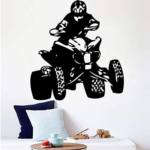 Vinyl Wandaufkleber Allrad Fahrrad Sport Champion Männer Wandbild Wohnzimmer Dekoration Tapete