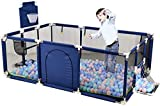 Arkmiido Baby Playpen Portable Activity Center Play Yard with Basketball Hoop Indoor Outdoor