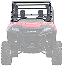 SuperATV Heavy Duty Scratch Resistant Flip/Fold Down 2-in-1 Windshield for 2014+ Honda Pioneer 700/700-4   USA Made   Easy Install-No Drilling   1/4
