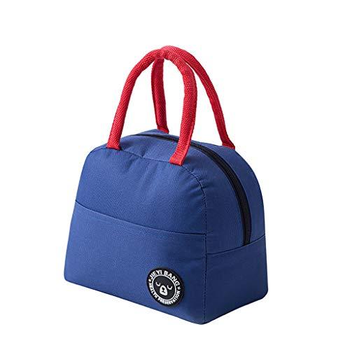 Longzjhd Isotherme thermique Lunch Bag Sac de rangement des aliments Portable Voyage Travailler Boîte à Bento Tissu Pliable Pique-nique Sac à main pour les femmes Adulte Étudiant et Kid Seal Sacs