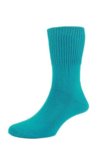HDUK Socks HJ Hall hj2413Super Soft Sanitized Bedsocks/UK Größen 4bis 13(1Paar) Gr. Medium, Türkis - Türkis