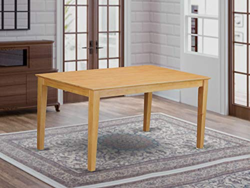 East West Furniture Oak-S CAT S Rectangular Dining Table with Solid Wood Top, 36 60-Inch, Inch Inch