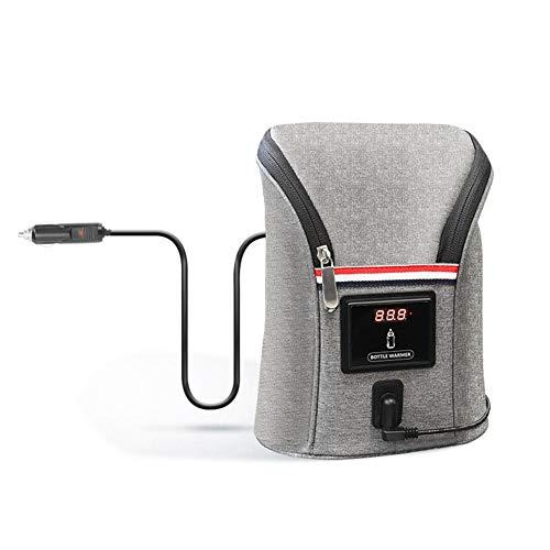 aheadad Baby Flaschenwärmer Tasche, Auto Baby Flasche USB Auto Thermostat Temperatur Milch Heizung Aufbewahrungstasche Babyflasche Tasche
