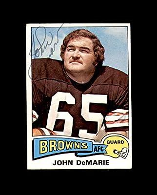 John DeMarie Hand Signed 1975 Topps Cleveland Browns Autograph