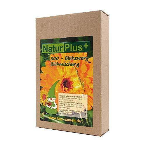 Mezcla de flores plurianuales de baja crecimiento para un pradero de flores colorido en verano. Para 100 m² I 100 g de semillas mezcladas con 1,4 kg de siembra I Semillas de flores de calidad alemana.