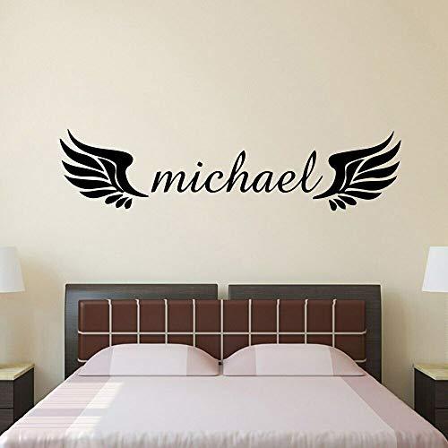 ASFGA optimale Flügel Wandtattoo mit mutigen Flügeln sie fliegen Wandtattoo Vinyl Mädchen Schlafzimmer Dekoration Traum Wanddekoration Tapete