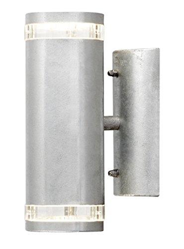 Gnosjö Konstsmide Modena 7512-320 wandlamp up en down, breedte 9 cm diepte 14,5 cm hoogte 23,5 cm, 2x 35W, IP44, gegalvaniseerd staal 7512-320