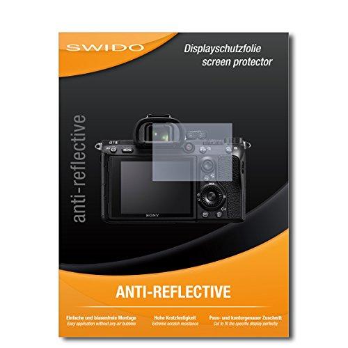 SWIDO Schutzfolie für Sony Alpha 7 III [2 Stück] Anti-Reflex MATT Entspiegelnd, Hoher Festigkeitgrad, Schutz vor Kratzer/Bildschirmschutz, Bildschirmschutzfolie, Panzerglas-Folie