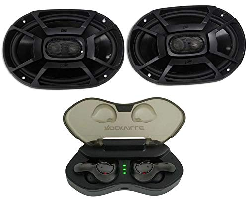 2) Polk Audio DB692 6X9' 450w Car Audio Marine/ATV/Motorcycle Speakers+Cyberbuds