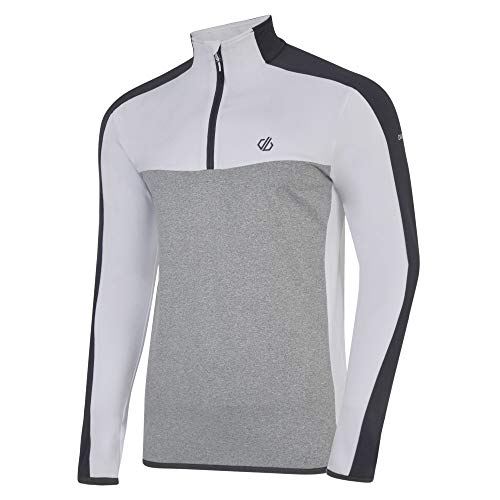 Dare 2b Polaire Technique DEPOSE avec Ouverture 1/2 Zip Stretch Midlayer Homme, Ebony/Ash Grey, FR (Taille Fabricant : XL)