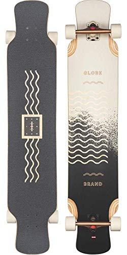 Globe Geminon XL Longboards, Erwachsene, Unisex, Mehrfarbig (Spray Wave/Black Copper), 47