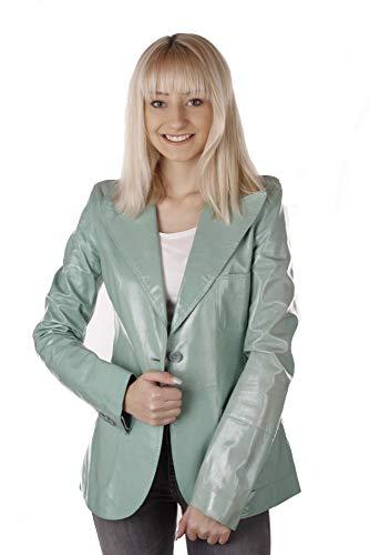 Dolce & Gabbana Damen Jacke Lederjacke Blazer Türkis (EU 32)