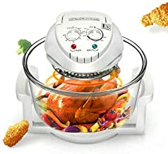 12L Air Fryer, Oil-less Air Fryer Infrared Convection, Halogen Oven Countertop, Cooking, Stainless Steel, 110V, Prepare Qu...